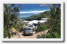 camping on the mozambique coast, backpackers, tours